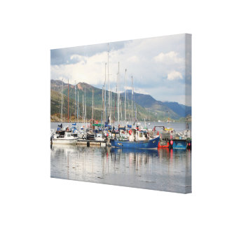 Reflections at Kyleakin, Isle of Skye, Scotland Canvas Print
