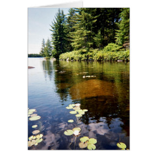 """Reflections at the Lake"" Card"