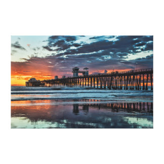 Reflections at the Oceanside Pier Canvas Print