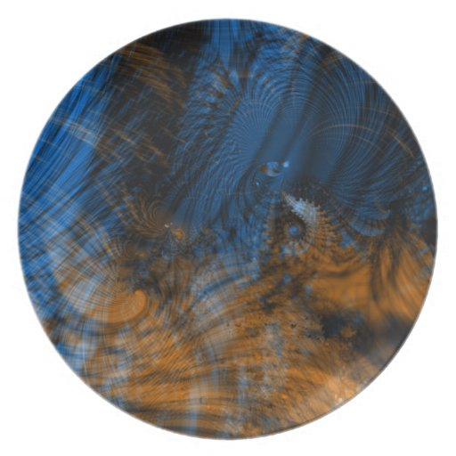 Reflections Fractal Plates