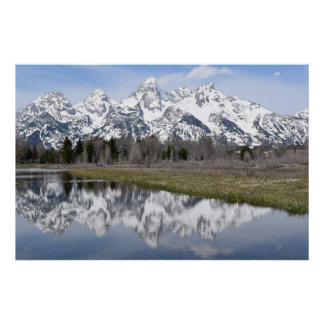 Reflections from the Mountains (Grand Tetons) Poster