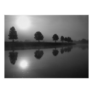 Reflections in black and white poster