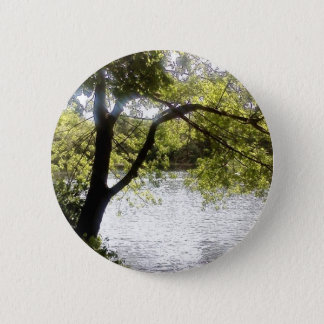 Reflections in the woods 6 cm round badge