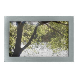 Reflections in the woods belt buckles