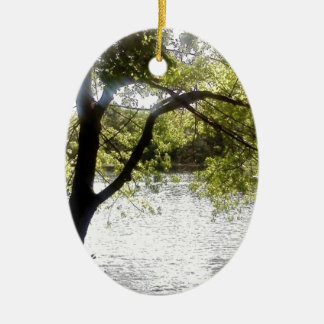 Reflections in the woods ceramic oval decoration