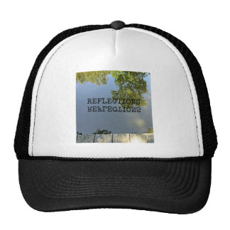 Reflections (in water) trucker hats