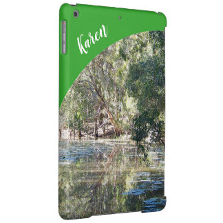 Reflections IPad case with name - green