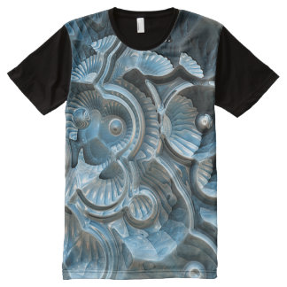 Reflections of A Fractal Fossil All-Over Print T-Shirt