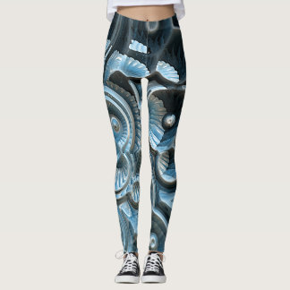 Reflections of A Fractal Fossil Leggings