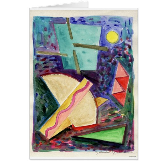 """""""Reflections of a Space Primitive"""" watercolor. Card"""