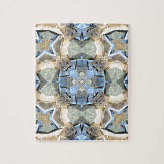 Reflections of Blue And Gold Jigsaw Puzzle