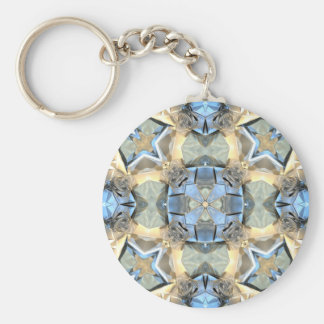 Reflections of Blue And Gold Key Ring