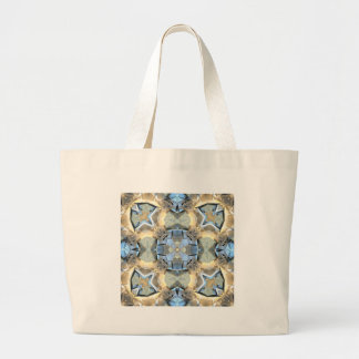 Reflections of Blue And Gold Large Tote Bag
