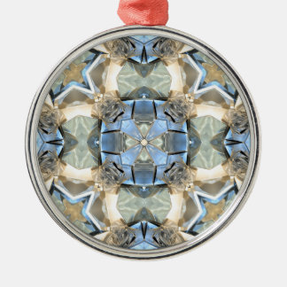 Reflections of Blue And Gold Metal Ornament