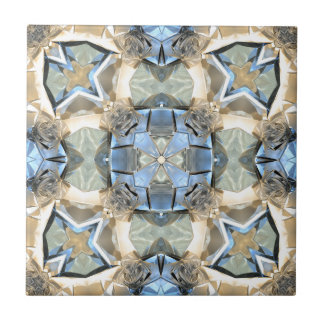 Reflections of Blue And Gold Tile
