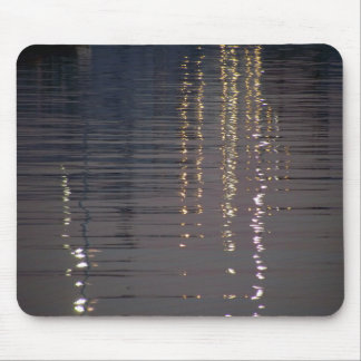 Reflections of lights in the sea mouse pad
