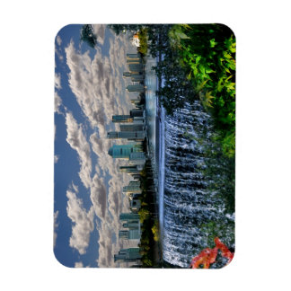 REFLECTIONS OF OZ  Brisbane River Waterfalls Rectangular Photo Magnet