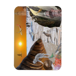 REFLECTIONS OF OZ    WAVE ROCK BRISBANE RECTANGULAR PHOTO MAGNET