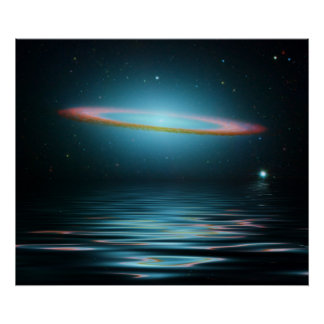 Reflections of the Sombrero Galaxy Poster