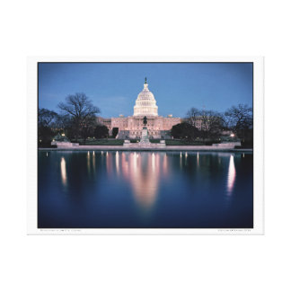 Reflections of the U.S. Capitol Canvas Print