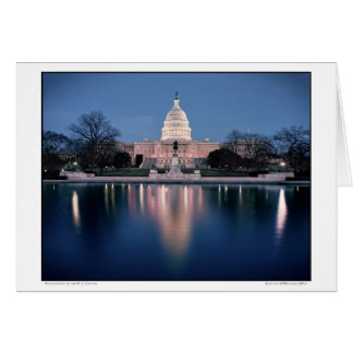 Reflections of the U.S. Capitol Card