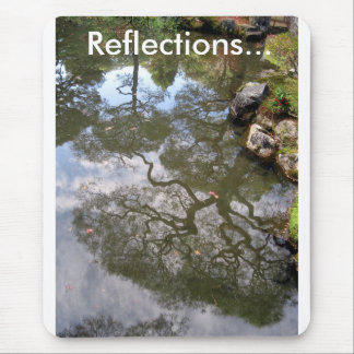REFLECTIONS...of trees in a Temple Pond in Japan Mouse Pad