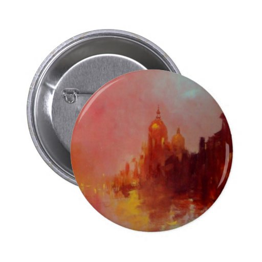 Reflections of Venice Button Badge