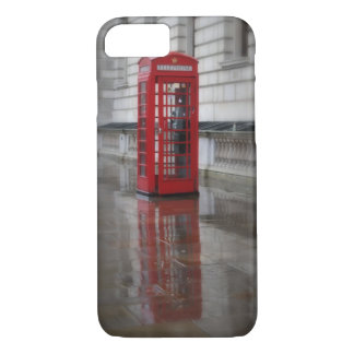 Reflections on a Red Phone Box iPhone 7 Case