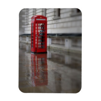 Reflections on a Red Phone Box - London Magnet
