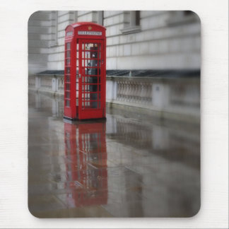 Reflections on a Red Phone Box - London Mouse Pad