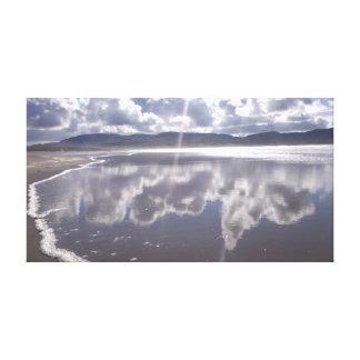 Reflections on Irish Beach Canvas Print