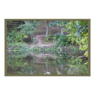 Reflections on the Creek Poster