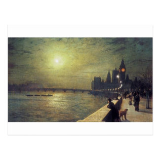 Reflections on the Thames, Westminster by John Postcard