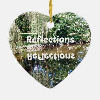 Reflections on water ceramic heart decoration