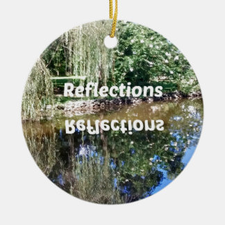 Reflections on water round ceramic decoration