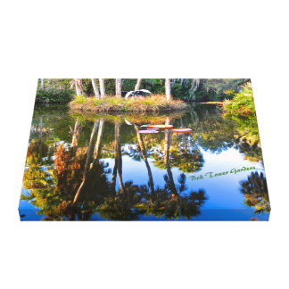 Reflections: Palms in the Pond Bok Tower Gardens Canvas Print