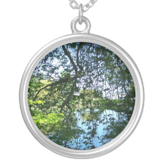 Reflections with Trees Necklace