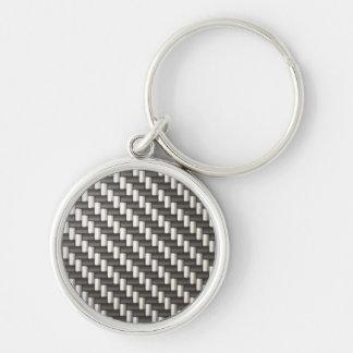 Reflective Carbon Fiber Textured Key Ring