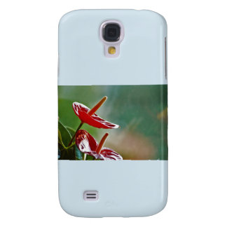 Reflective flower galaxy s4 cover