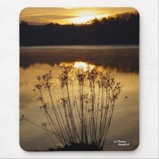 Reflective Sunrise Lake Mousepad