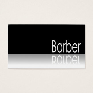 Reflective Text - Barber - Business Card