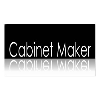 Reflective Text - Cabinet Maker - Business Card