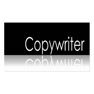 Reflective Text - Copywriter - Business Card
