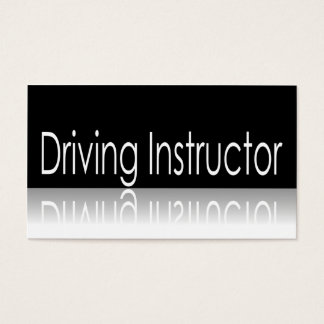 Reflective Text - Driving Instructor Business Card