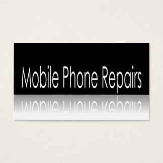 Reflective Text - Mobile Phone Repairs - Card