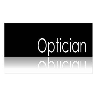 Reflective Text - Optician - Business Card
