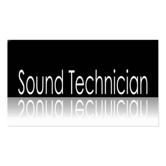 Reflective Text - Sound Technician - Business Card