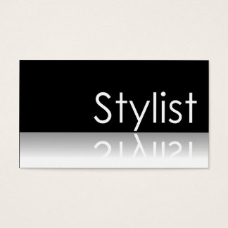 Reflective Text - Stylist - Business Card
