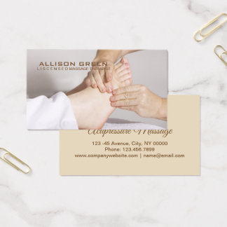 Reflexology Acupressure Foot Massage therapist Business Card