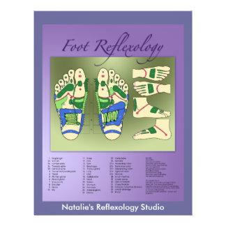 Reflexology chart flyer design